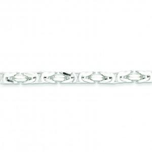 Sterling Silver 8 inch 5.00 mm  Byzantine Chain Bracelet