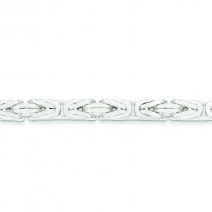 Sterling Silver 8 inch 6.00 mm  Byzantine Chain Bracelet