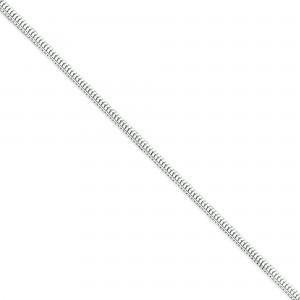 Sterling Silver 8 inch 3.00 mm Square Snake Chain Bracelet