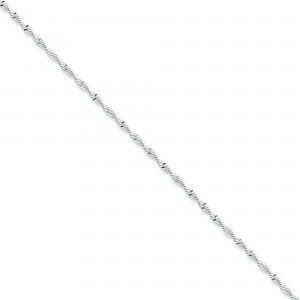 Sterling Silver 8 inch 2.00 mm Twisted Herringbone Chain Bracelet