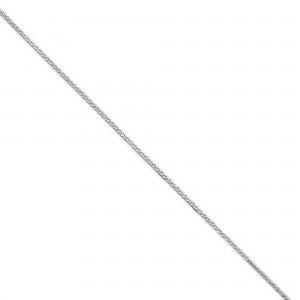 Sterling Silver 8 inch 1.00 mm Square Snake Chain Bracelet