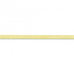 14k Yellow Gold 7 inch 4.00 mm Silky Herringbone Chain Bracelet