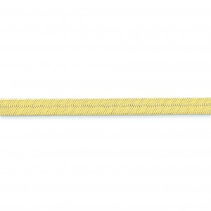 14k Yellow Gold 7 inch 6.50 mm Silky Herringbone Chain Bracelet