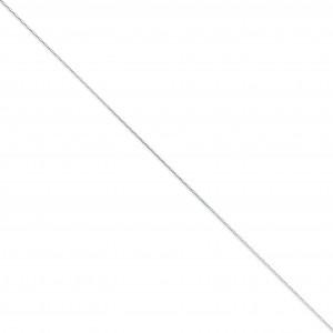 14k White Gold 14 inch 0.70 mm  Box Choker Necklace