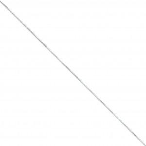 14k White Gold 14 inch 1.00 mm  Box Choker Necklace