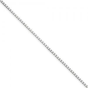 14k White Gold 14 inch 1.25 mm  Box Choker Necklace