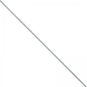 14k White Gold 7 inch 0.90 mm  Box Chain Bracelet