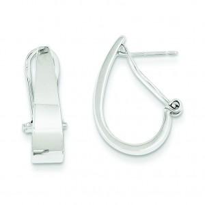 Hoop Earrings in 14k White Gold
