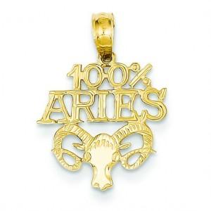 Aries Pendant in 14k Yellow Gold