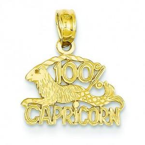 Capricorn Pendant in 14k Yellow Gold