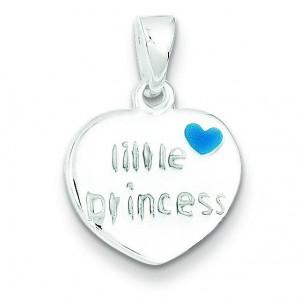 Little Princess Heart Pendant in Sterling Silver