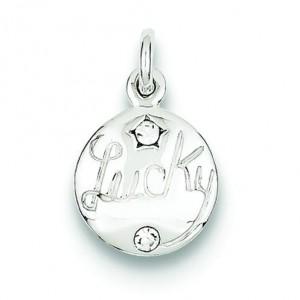 Swarovski Crystal Lucky Charm in Sterling Silver