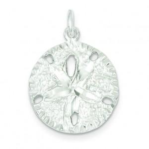 Sanddollar Charm in Sterling Silver