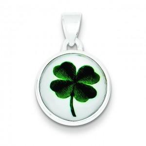 Leaf Clover Pendant in Sterling Silver