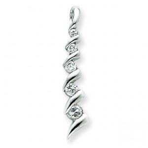 CZ Journey Pendant in Sterling Silver