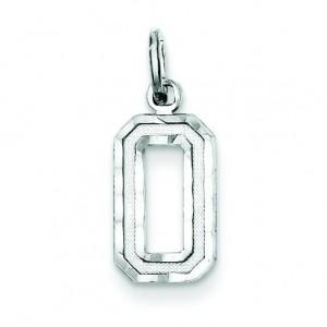 Diamond Cut Charm in Sterling Silver