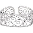 Diamond Bangle Bracelet in Sterling Silver (0.25 Ct. tw.) (0.25 Ct. tw.)