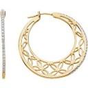 Diamond Hoop Earrings in 14k Yellow Gold (0.33 Ct. tw.) (0.33 Ct. tw.)